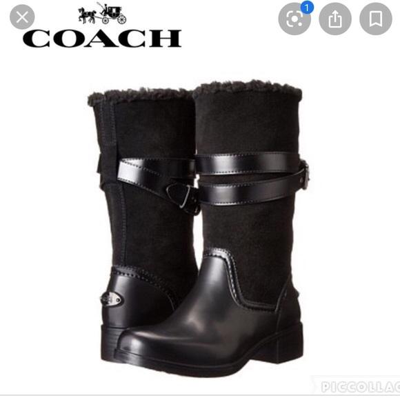 NWOB Coach Zena Snow Moto Rubber/Shearling Boot 7